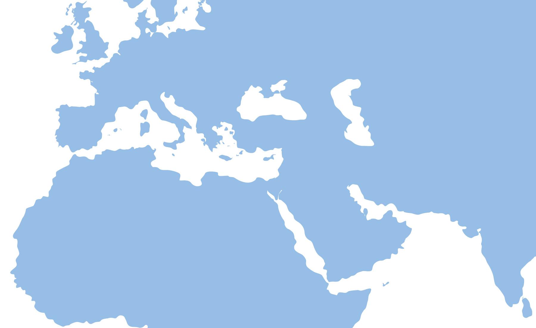 A map of the Mediterranean region