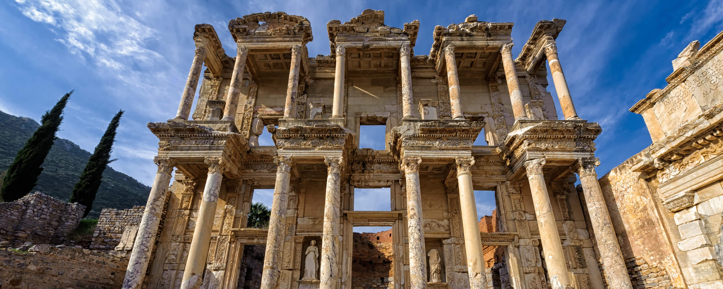 The Library of Celsus in Ephesus, Anatolia