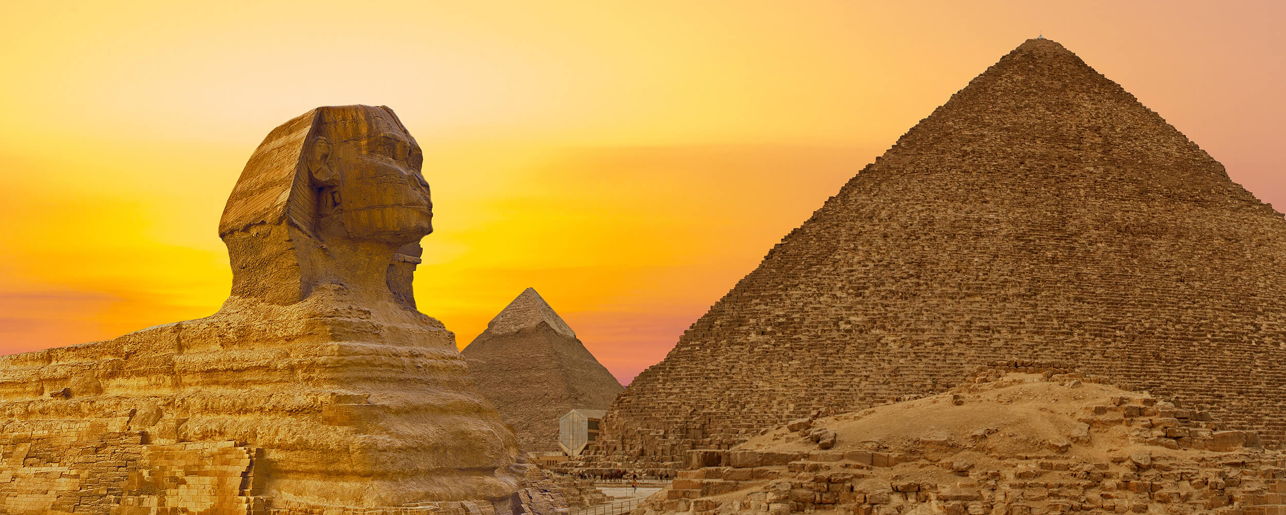 sphinx at sunset egypt